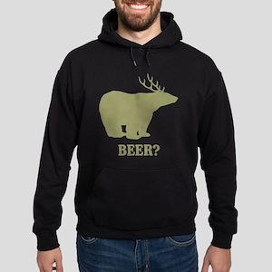 Beer Deer Bear Hoodie (dark)