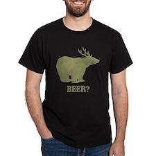 Beer Deer Bear Dark T-Shirt