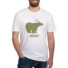 Beer Deer Bear Fitted T-Shirt
