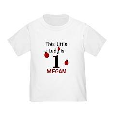 MEGAN - This Little Lady Is 1 (Ladybug) T