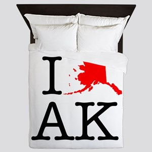 I Love AK Alaska Queen Duvet