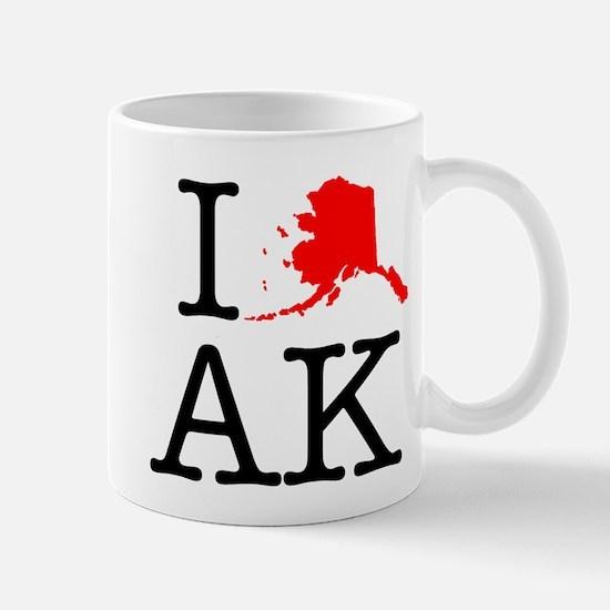 I Love AK Alaska Mug