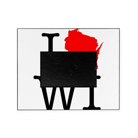 I Love WI Wisconsin Picture Frame