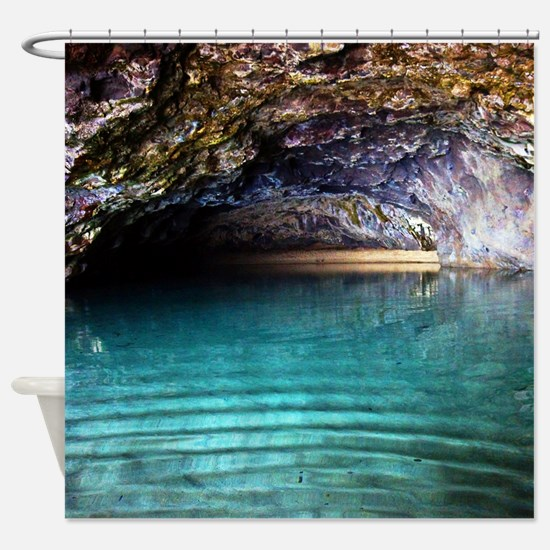 Kalalau Beach Cave Spa Tropical Shower Curtain