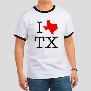 I Love TX Texas Ringer T