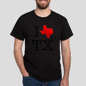 I Love TX Texas Dark T-Shirt