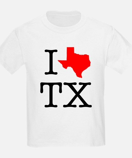 I Love TX Texas T-Shirt