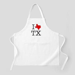I Love TX Texas Apron