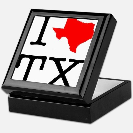 I Love TX Texas Keepsake Box