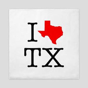 I Love TX Texas Queen Duvet