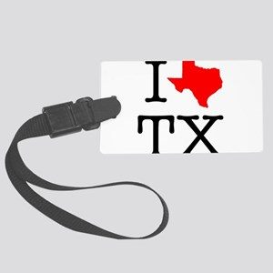 I Love TX Texas Large Luggage Tag
