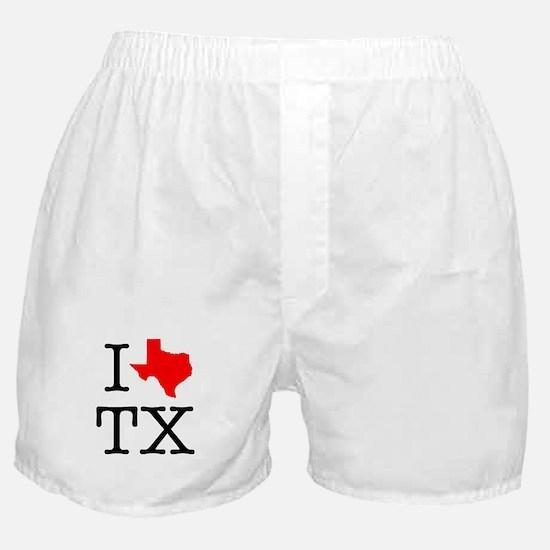I Love TX Texas Boxer Shorts