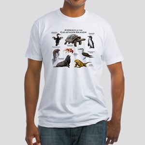 Animals of the Galapagos Islands Fitted T-Shirt