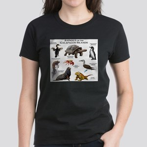 Animals of the Galapagos Islands Women's Dark T-Sh