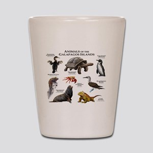 Animals of the Galapagos Islands Shot Glass