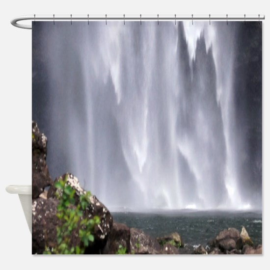 Kauai Waterfall Hawaii Shower Curtain