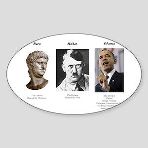 Dictator blame Sticker (Oval)