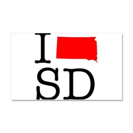 I Love SD South Dakota Car Magnet 20 x 12