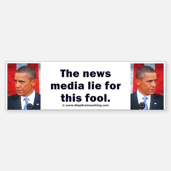 News Media Lies Sticker (Bumper)