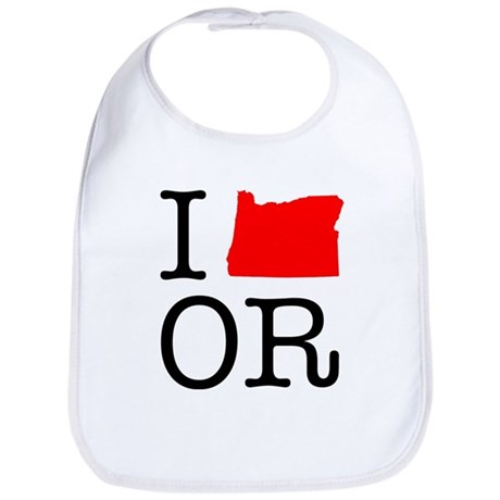 I Love OR Oregon Bib