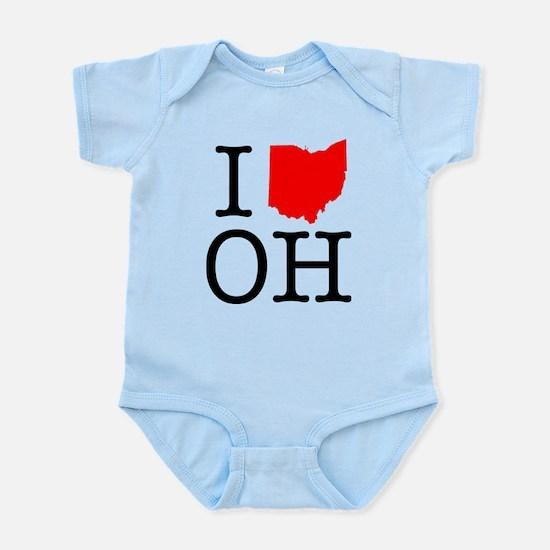 I Love OH Ohio Infant Bodysuit
