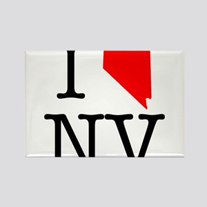 I Love NV Nevada Rectangle Magnet