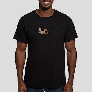 Crazy Squirrel Men's Fitted T-Shirt (dark)