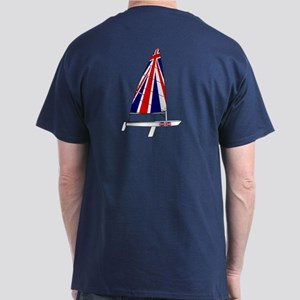 UK Britain Dinghy Sailing Dark T-Shirt