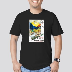National Parks Travel Poster 6 Men's Fitted T-Shir