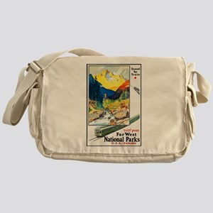 National Parks Travel Poster 6 Messenger Bag