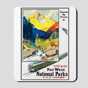 National Parks Travel Poster 6 Mousepad