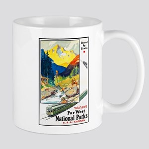 National Parks Travel Poster 6 Mug