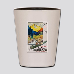 National Parks Travel Poster 6 Shot Glass