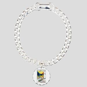 National Parks Travel Poster 6 Charm Bracelet, One