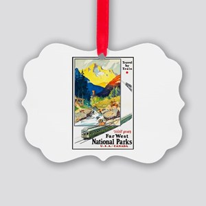 National Parks Travel Poster 6 Picture Ornament