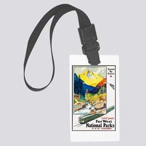 National Parks Travel Poster 6 Large Luggage Tag
