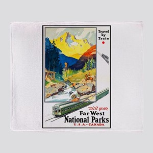 National Parks Travel Poster 6 Throw Blanket