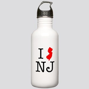 I Love NJ New Jersey Stainless Water Bottle 1.0L