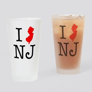 I Love NJ New Jersey Drinking Glass