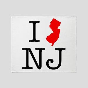 I Love NJ New Jersey Throw Blanket
