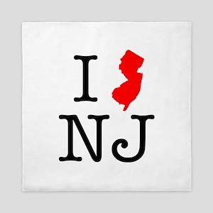 I Love NJ New Jersey Queen Duvet