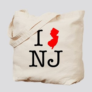 I Love NJ New Jersey Tote Bag