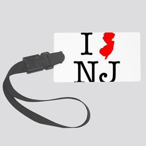 I Love NJ New Jersey Large Luggage Tag