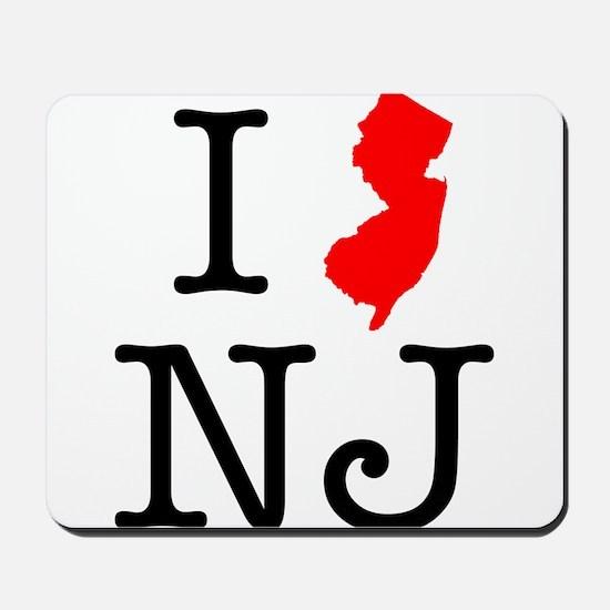 I Love NJ New Jersey Mousepad