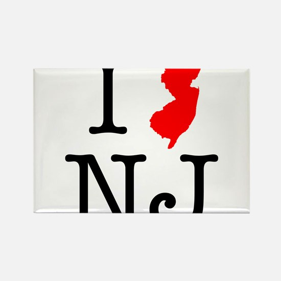 I Love NJ New Jersey Rectangle Magnet
