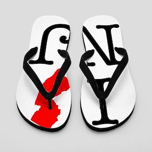 I Love NJ New Jersey Flip Flops