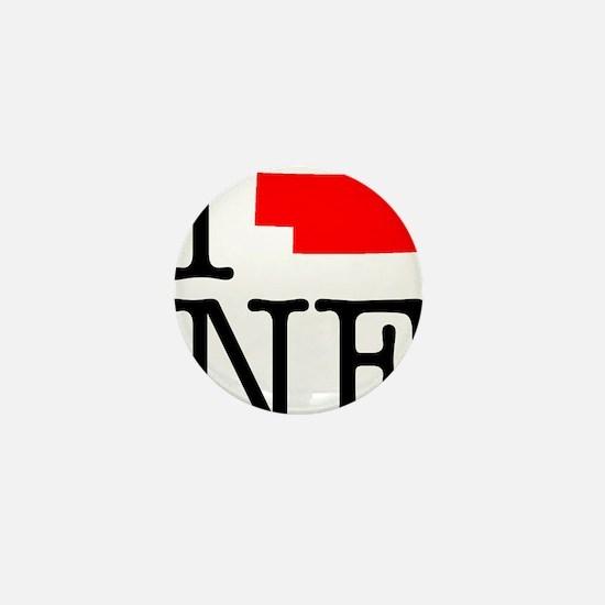 I Love NE Nebraska Mini Button