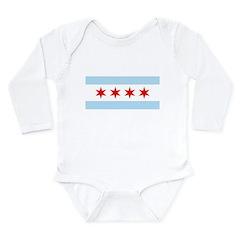 Chicago Flag Long Sleeve Infant Bodysuit