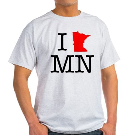 I Love MN Minnesota Light T-Shirt