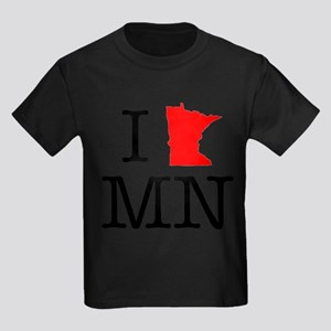 I Love MN Minnesota Kids Dark T-Shirt